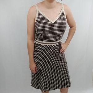 LOFT Casual Dress, Textured Honeycomb Print, sz10P